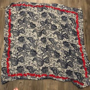 Lucky Brand square embroidered scarf